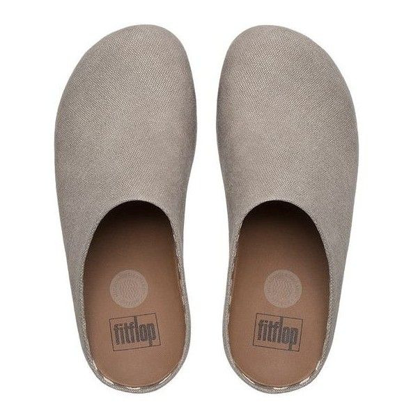86bca15d2 FitFlop Shuv™ Linen Clogs ( 100) ❤ liked on Polyvore featuring shoes