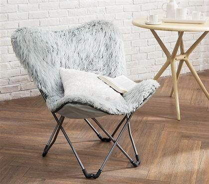 Cheap Dorm Chairs Hickory Chair Beds Fur Glacier Gray Butterflychair Ergonomic Computer