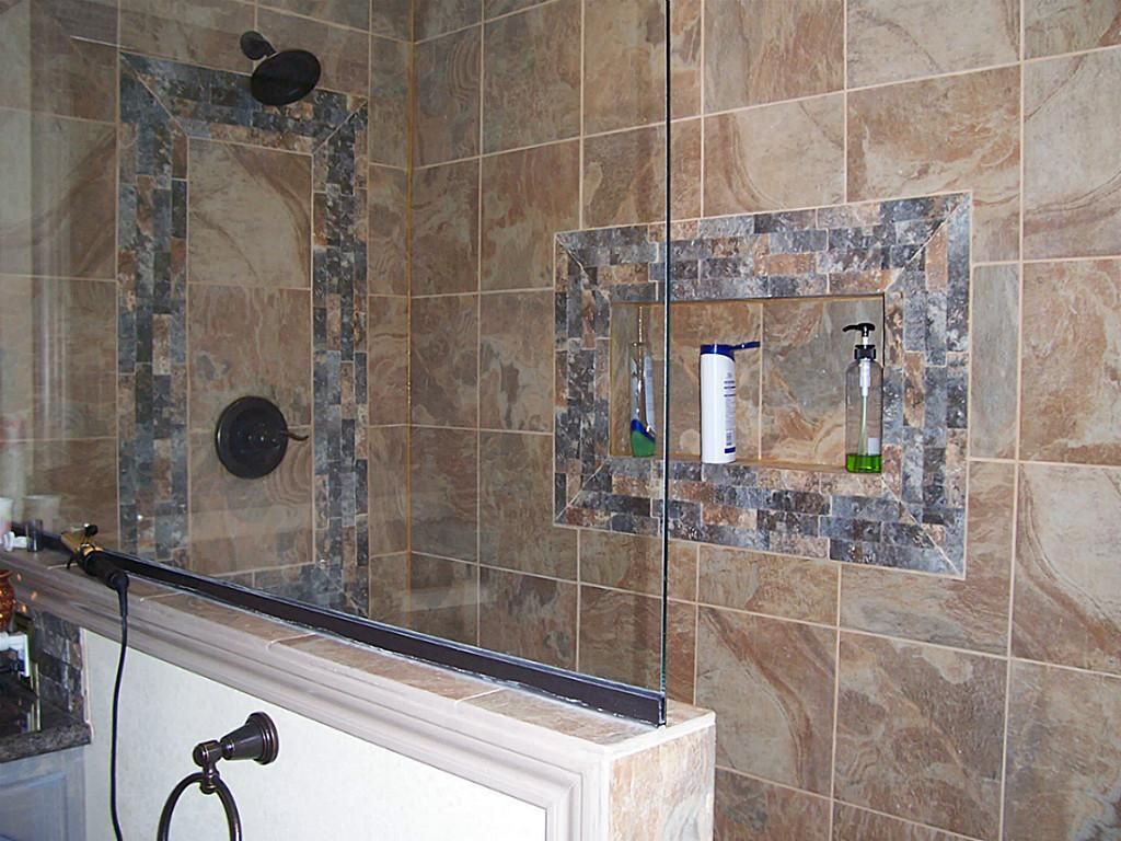 I like the addition of a piece of glass on the half wall of the shower