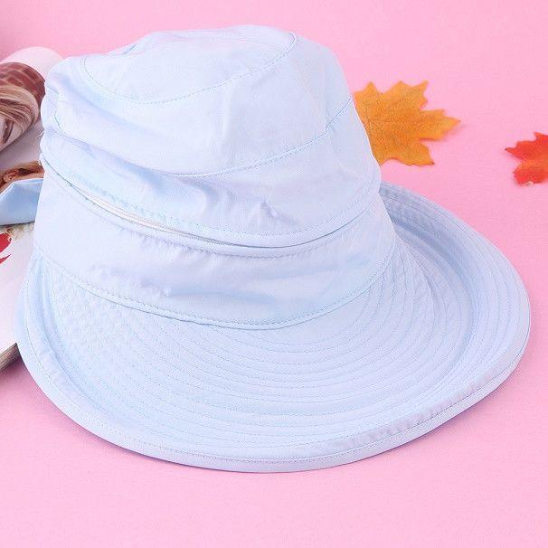 Dual Used Wide Large Brim Floppy Fold Shading Beach hats Anti-UV External Visor Cap Folding Sun Hat