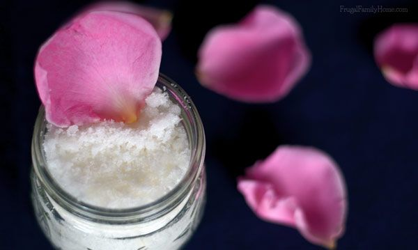 Rose Scented Sugar Body Scrub | Frugal Family Home
