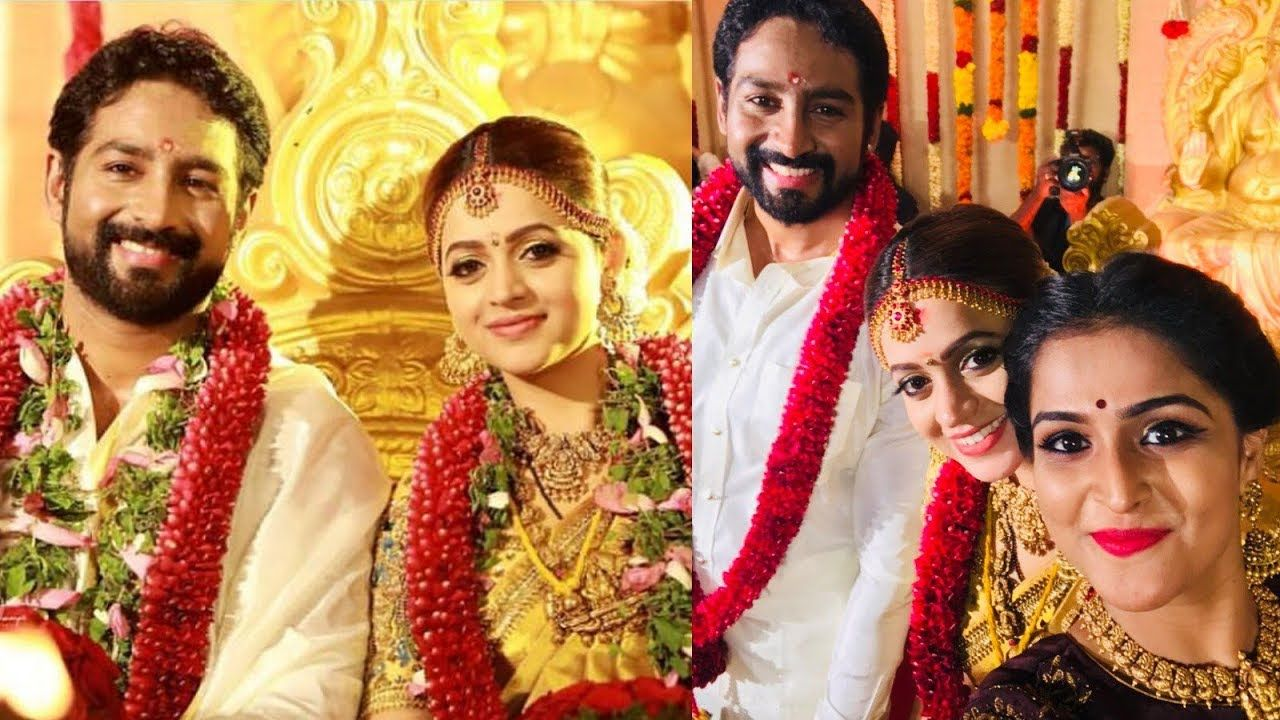 Actress Bhavana Wedding Photos Bhavana And Naveen Marriage Photos Actress Wedding Bhavana Actress Marriage Photos