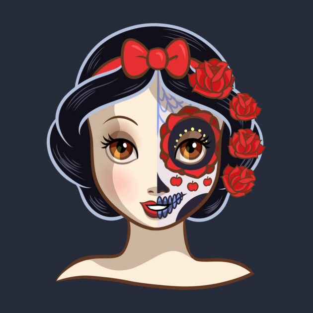Awesome 39 sugar skull series snow white 39 design on teepublic purchased tees pinterest - Sugar skull images pinterest ...