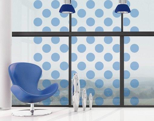 Fensterfolie - #Fenstertattoo No.JO60 Checked Dots - #Milchglasfolie ...