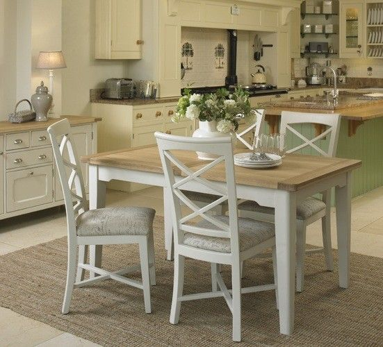 Cottage Oak And Painted Small Extending Dining Table Oak Furniture Fascinating Cream Dining Room Furniture Design Ideas