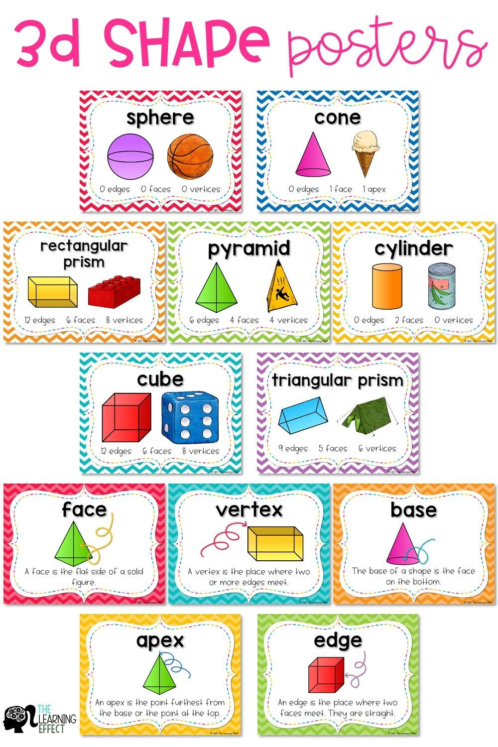 These 3d Shapes Posters Are The Perfect Addition To Your Classroom Math Word Wall Use These Anchor Charts To Teach F 3d Shape Posters Math Word Walls 3d Shape [ 1500 x 1000 Pixel ]