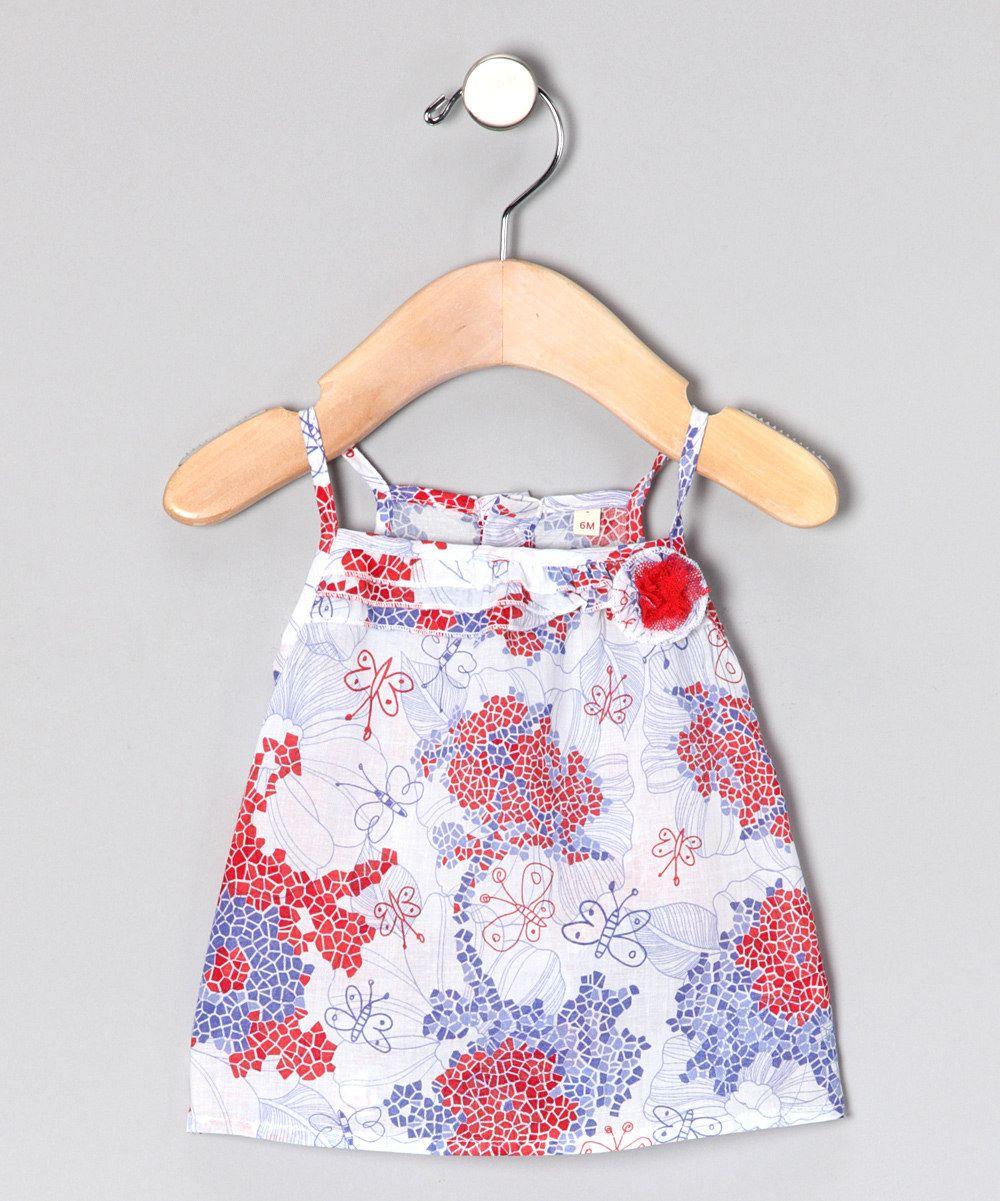 Losan - Red & Blue Rosette Swing Top - Infant