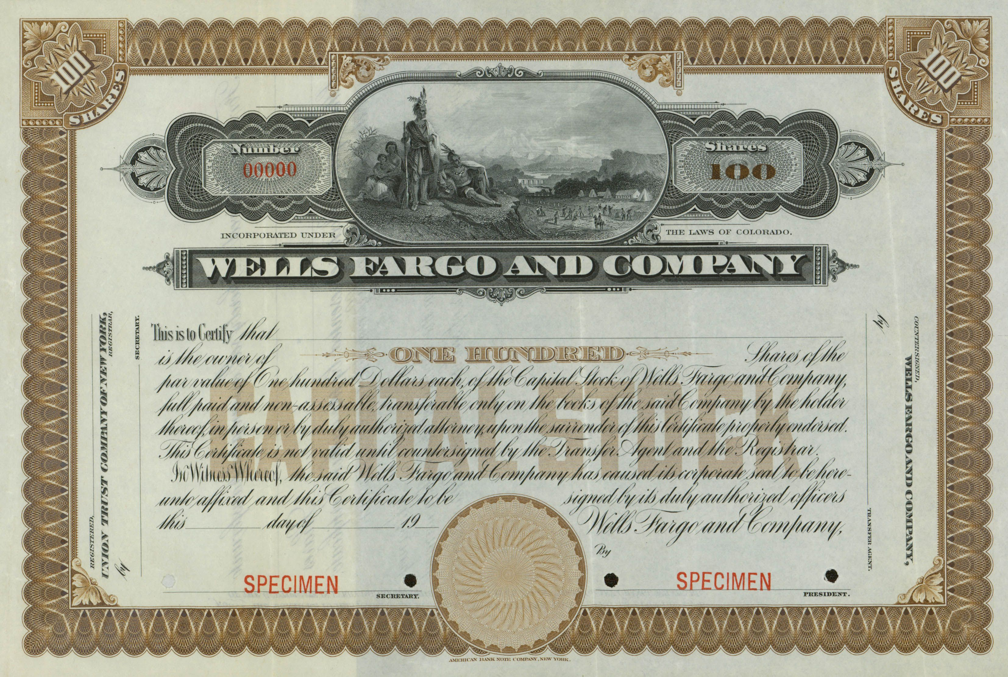 Wells Fargo And Company Stock Certificate 1910 Stock Certificates Stocks And Bonds The Motley Fool