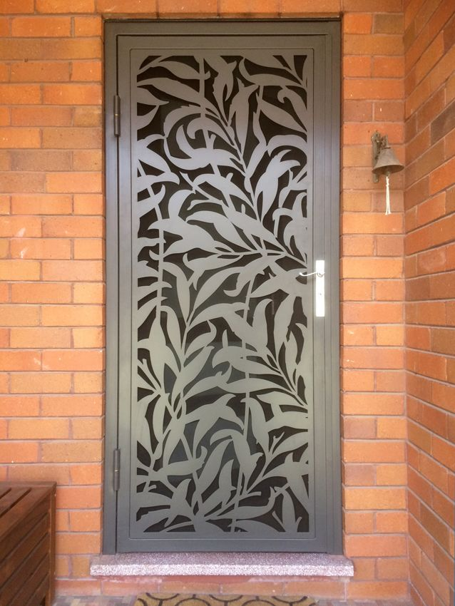 Laser cut design doors kings security doors grafton for Door design cnc