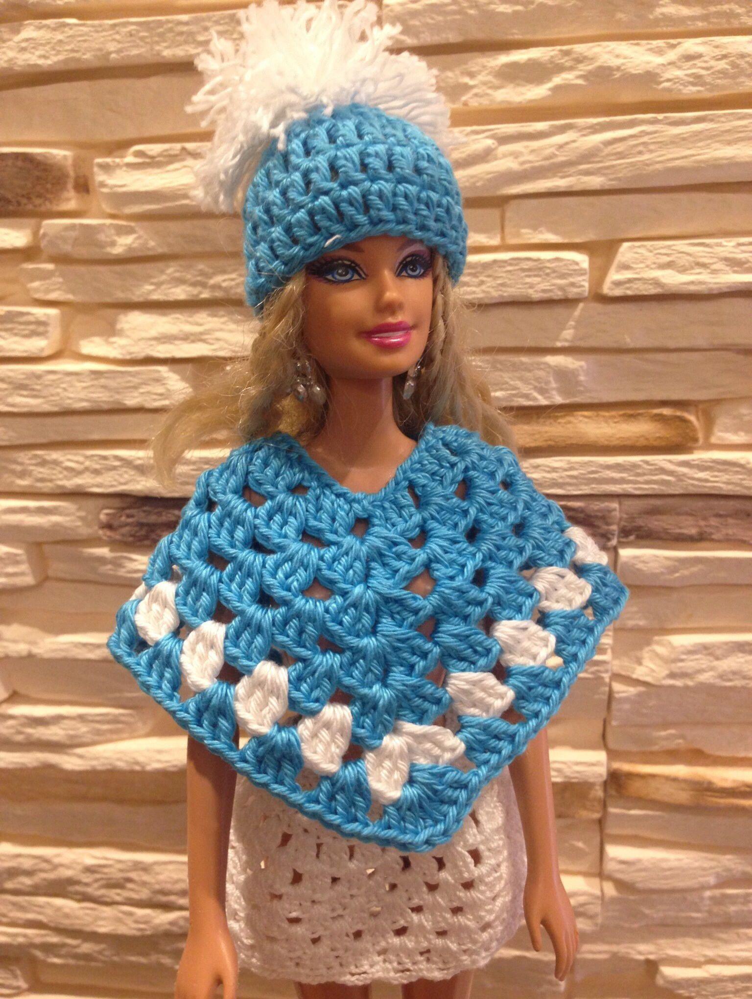 3500c33d25ca Image result for Barbie poncho Vestido De Boneca De Crochê, Vestidos De  Boneca, Bonecas