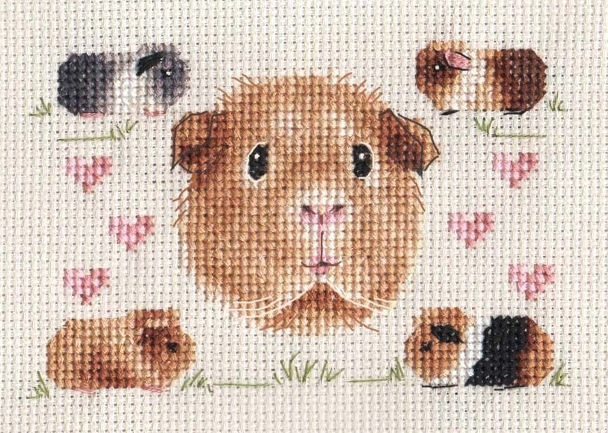 Guinea Pig Party Complete Counted Cross Stitch Kit Exclusive
