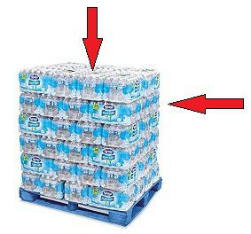 The Best Position To Choose Packaged Water Is Located In The Middle Of The Pallet And Right Beneath The Nestle Pure Life Nestle Pure Life Water Water Purifier