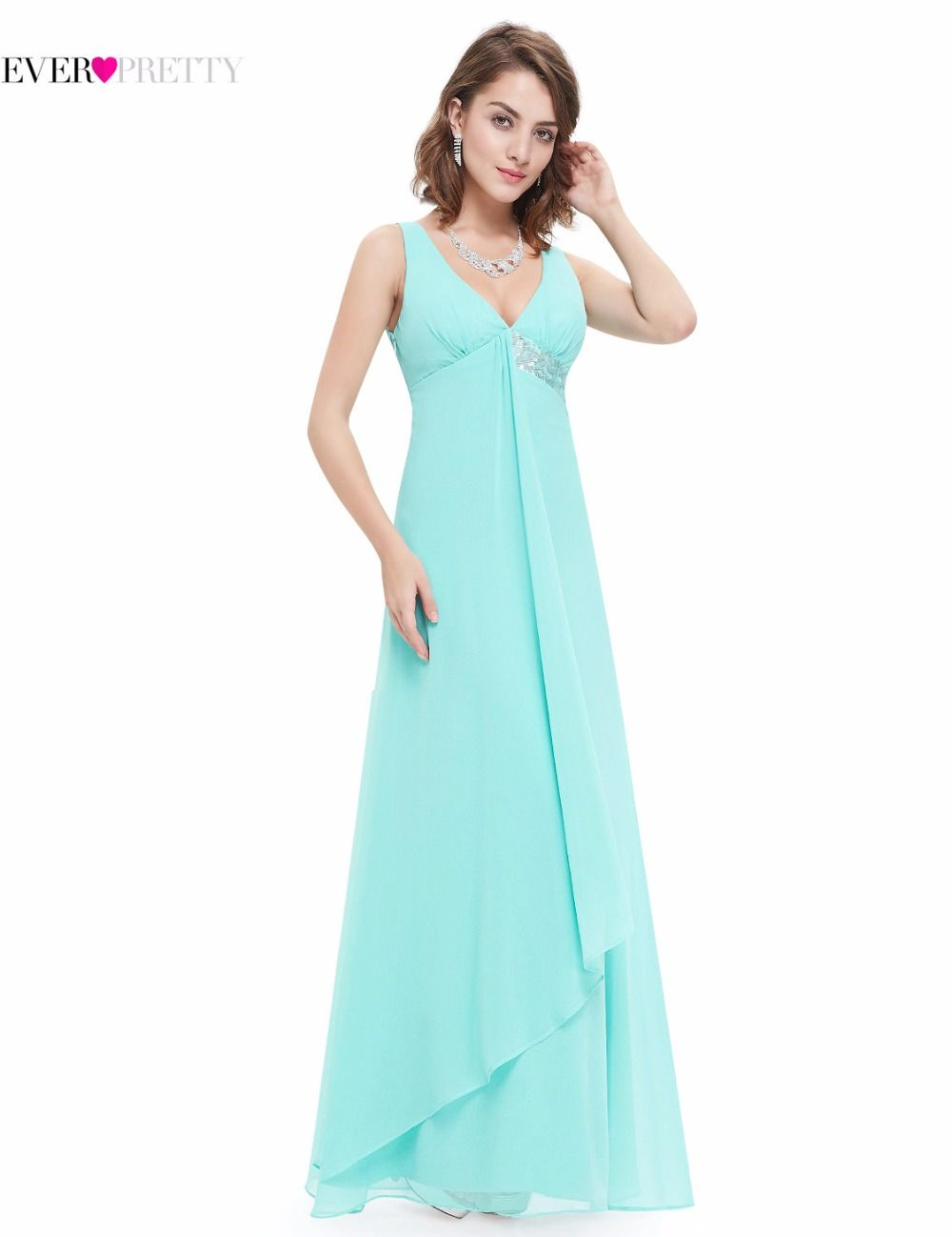 Clearance Sale] Bridesmaid Dresses Ever Pretty HE09981 V-neck Flow ...