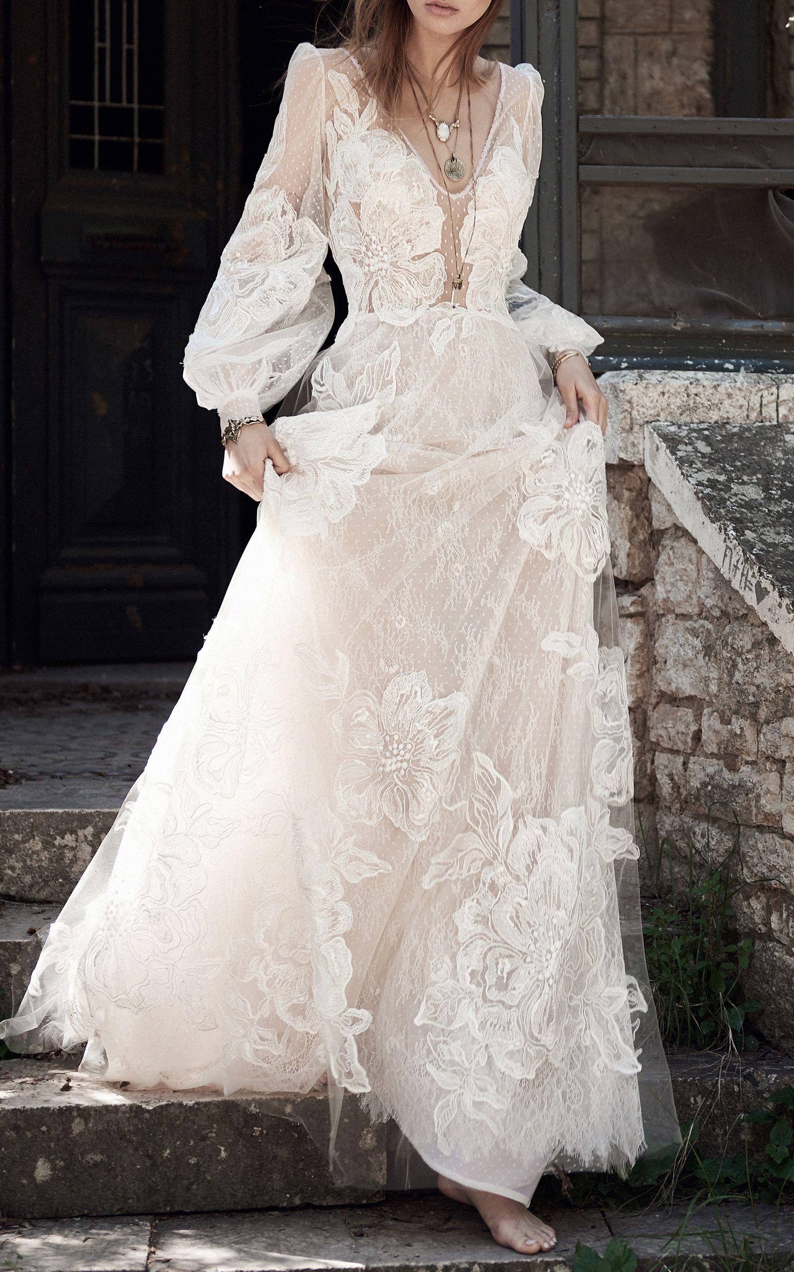 Fl Lace Dress By Costarellos For Preorder On Moda Operandi