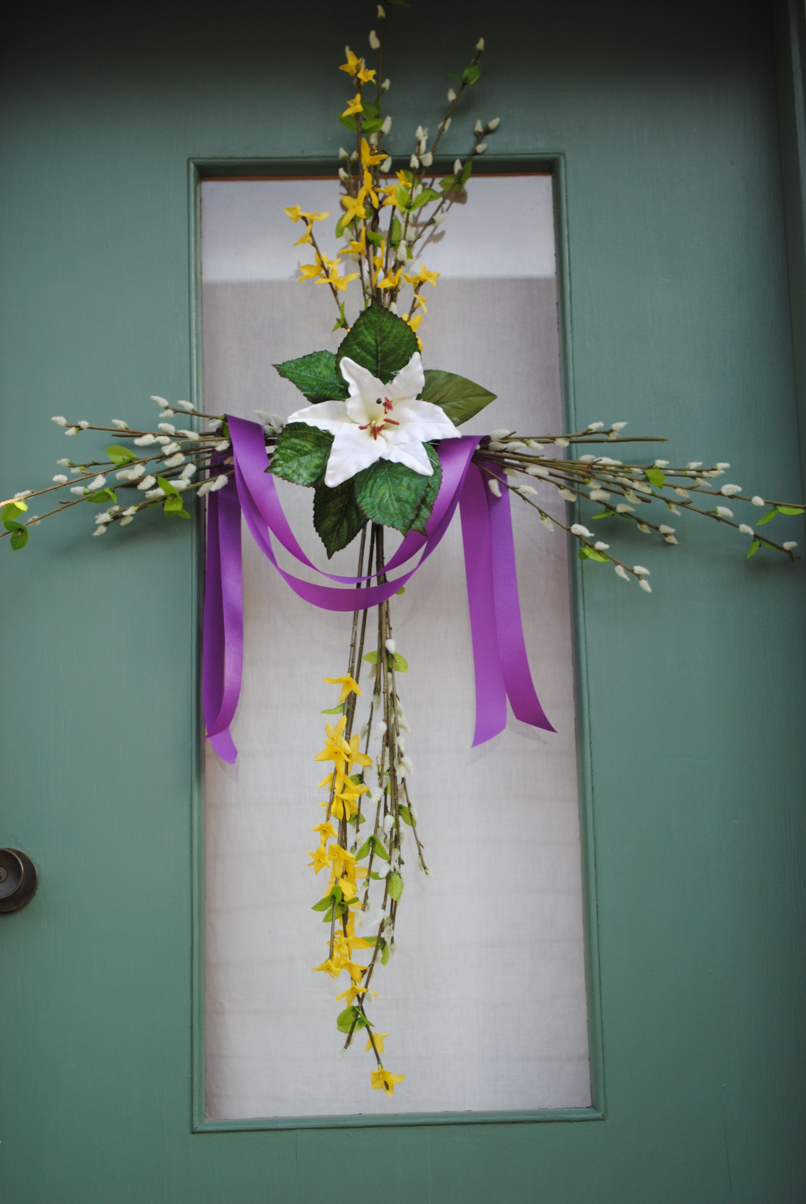 Lent Easter Door Wreath Catholic Easter Pinterest