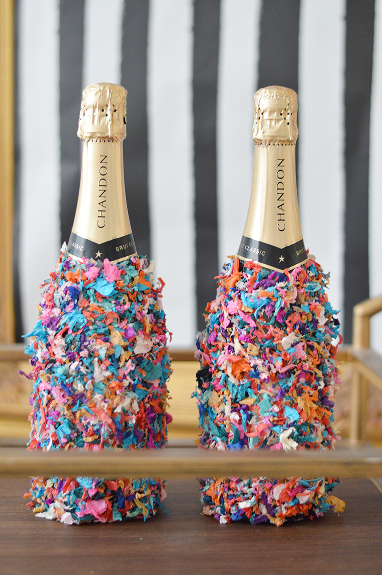 New Year S Eve Party Ideas With Gemstone Pinatas Tel Tails Confetti Dipped Champagne