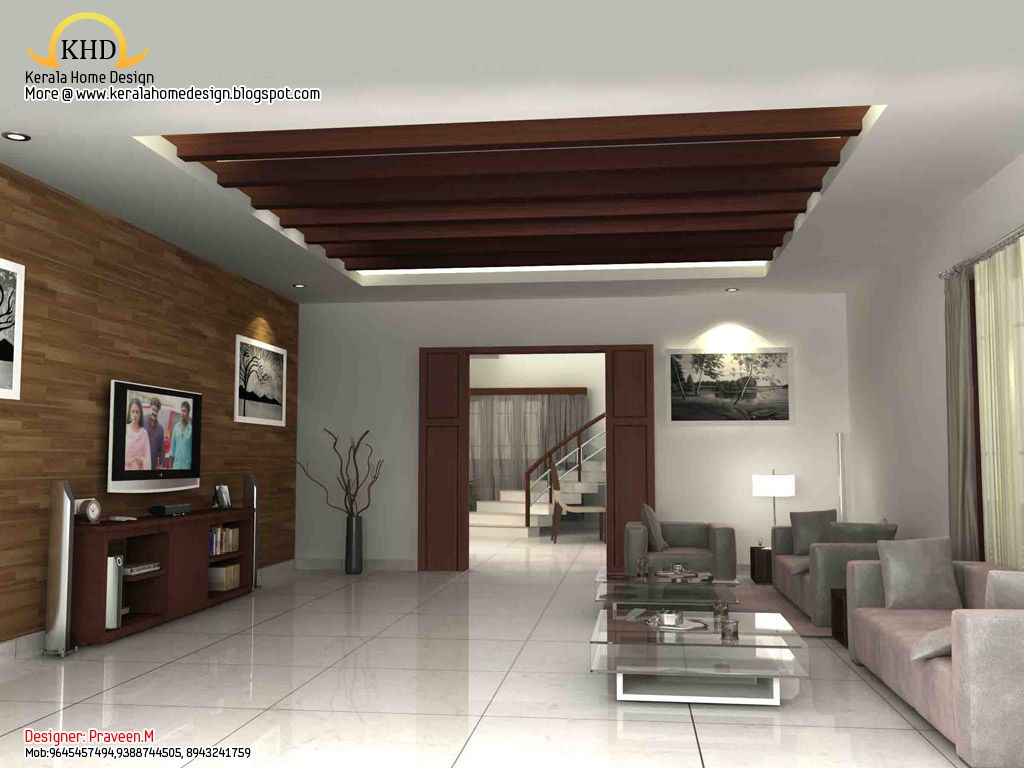 3d Rendering Concept Of Interior Designs Kerala Home Living Room Kerala Living Room And Dining Room Design Kerala House Design