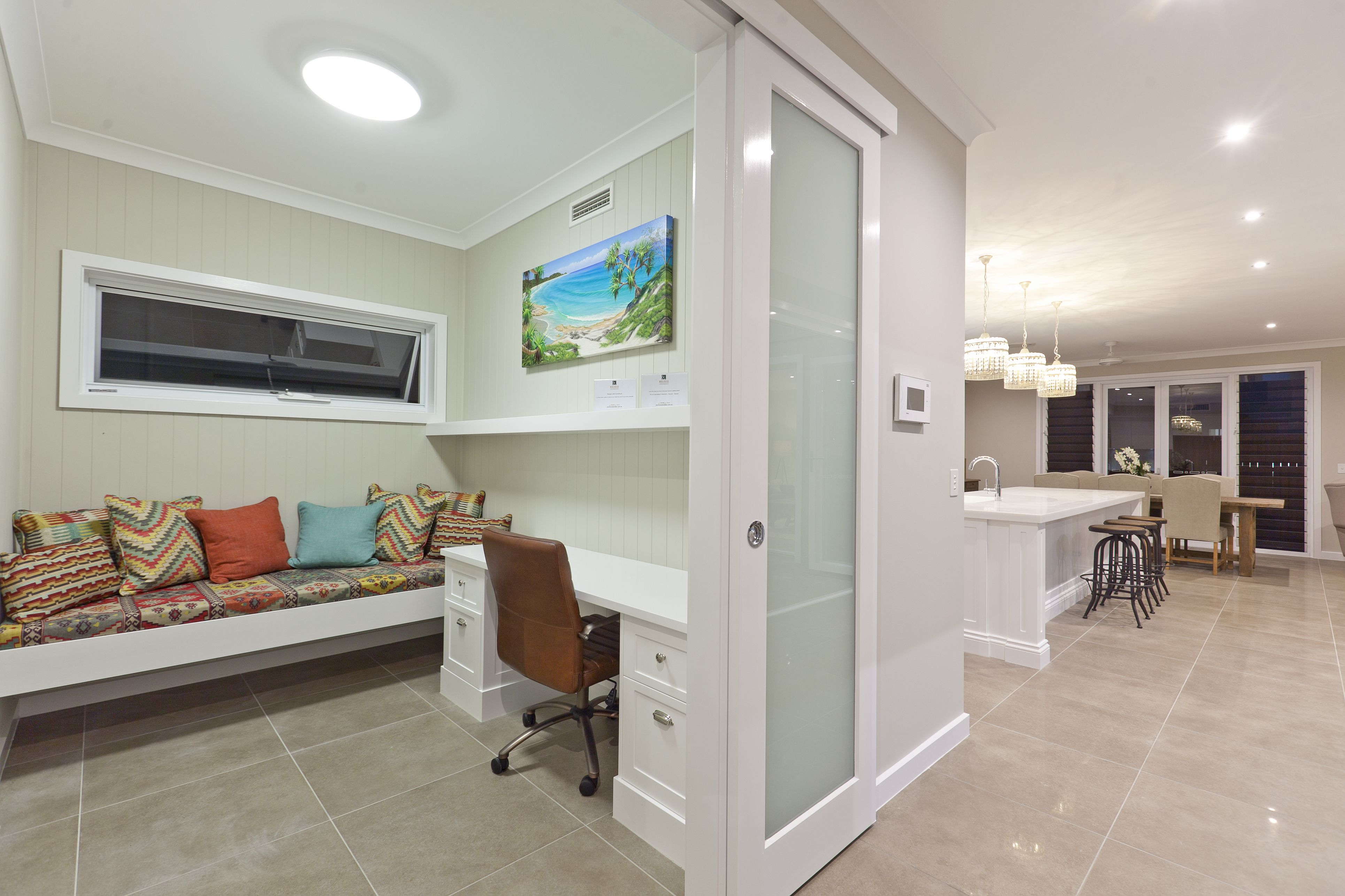 Royal wood tongue and groove panels - A Qld Home With Hardiegroove Lining An Interior Wall Lining Material Designed To Look Like