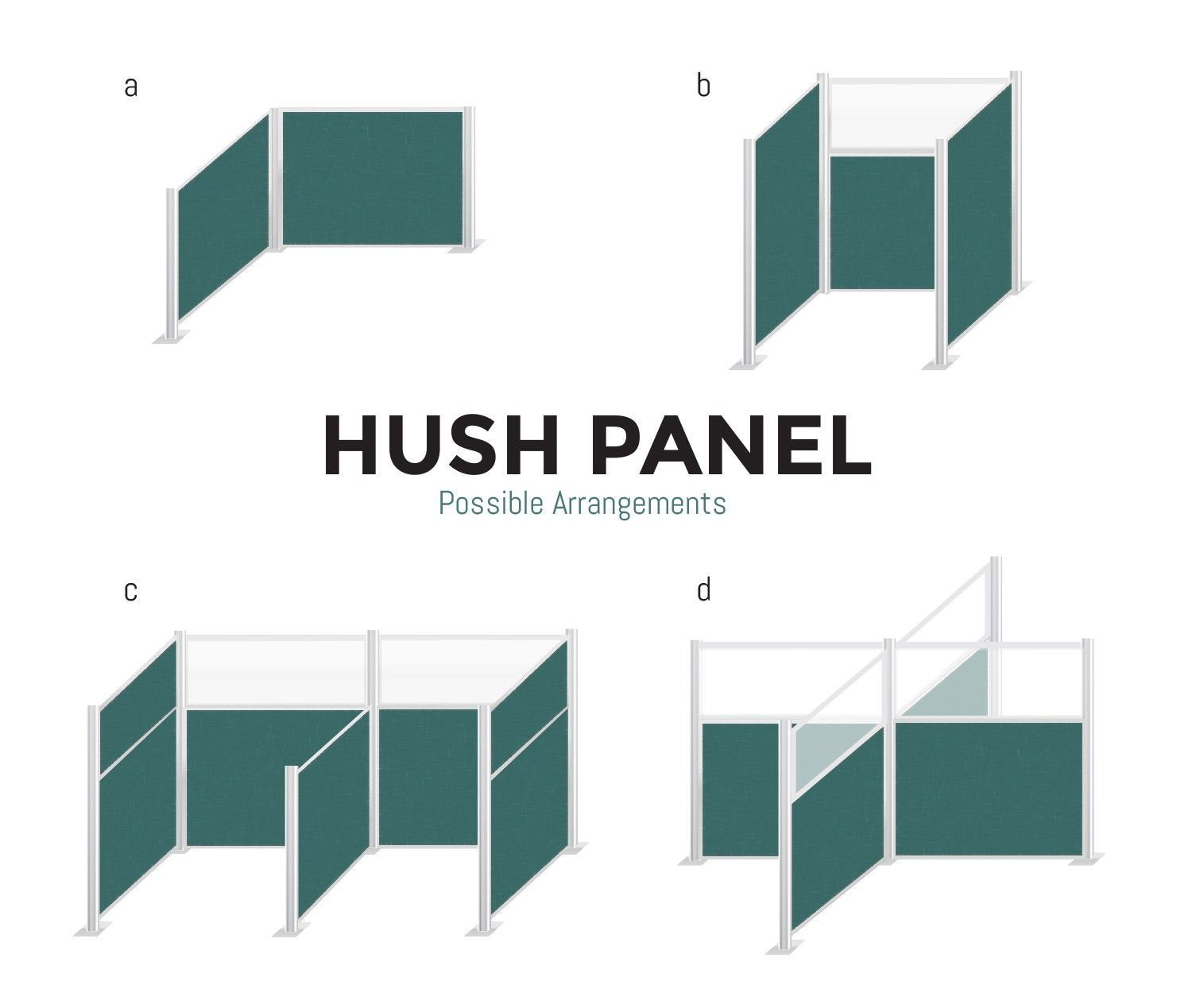 Our Hush Panel Configurable Cubicle Partition System allows
