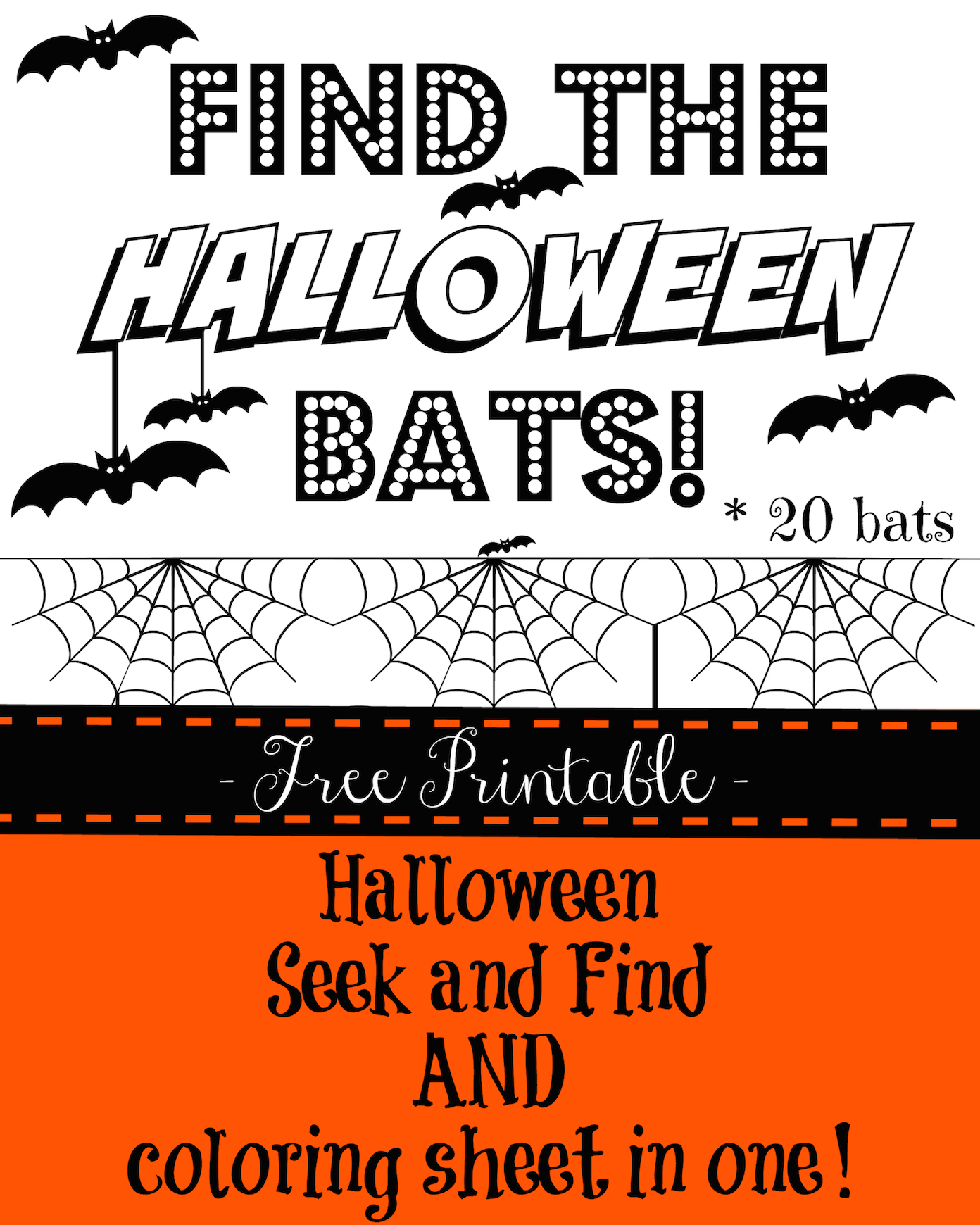 Halloween Seek And Find Printable For Kids Halloween Party