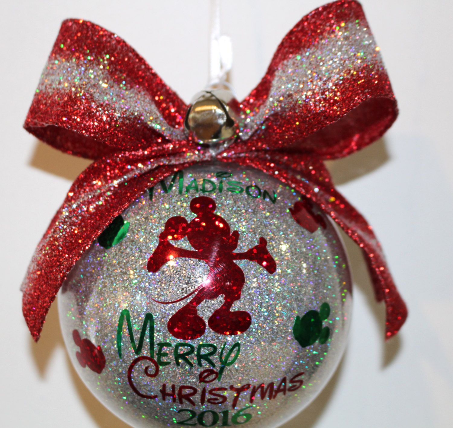 Baby S First Christmas Mickey Mouse Ornament Personalized Etsy Disney Ornaments Diy Disney Christmas Ornaments Disney Christmas Diy