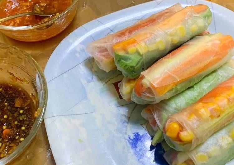 Cara Mengolah Vietnamese Spring Roll Menu Diet Nikmat Resep Us Resep Lumpia Resep Diet