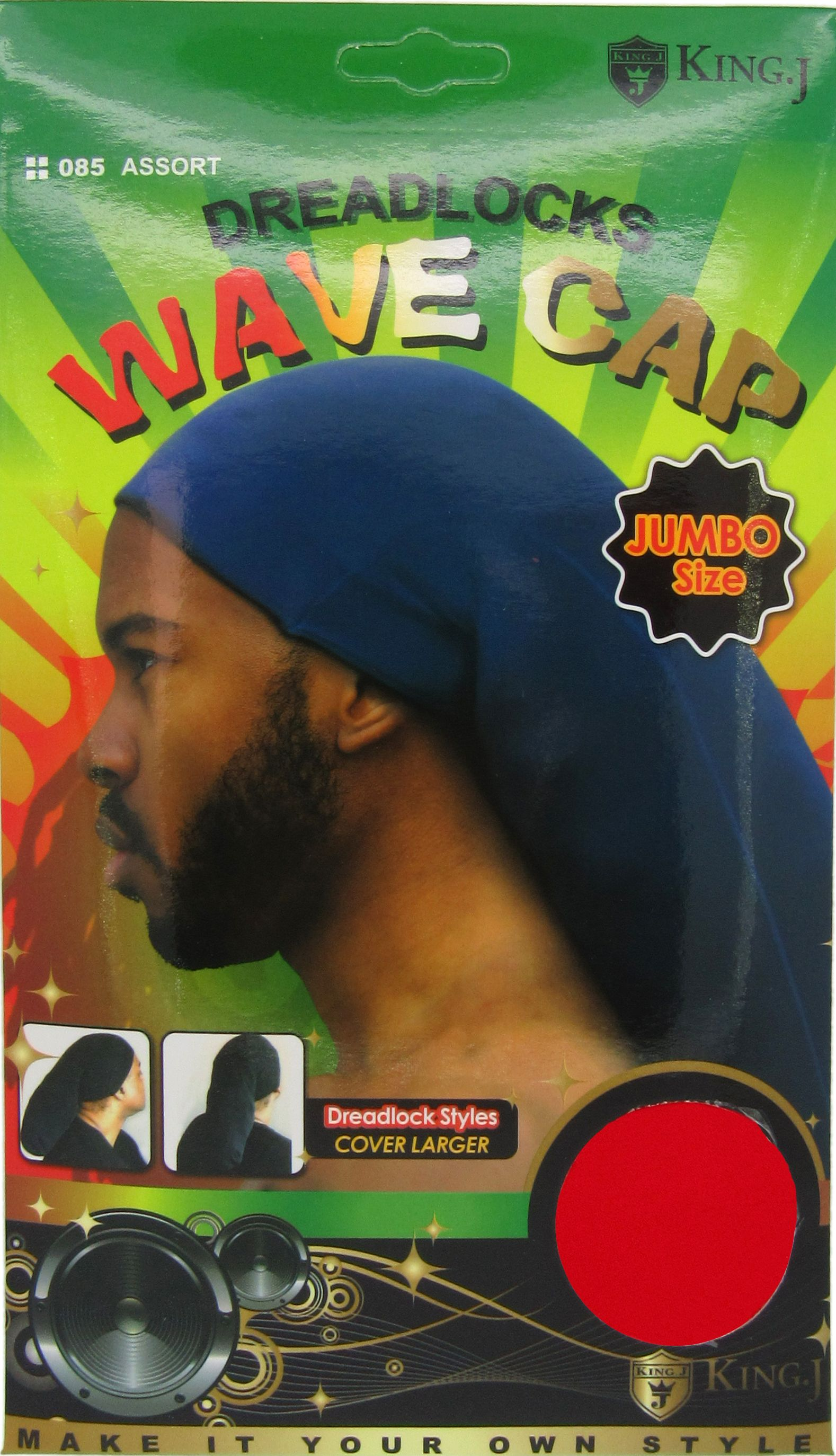 Dreadlocks jumbo rasta stocking wave hat cap reggae marley
