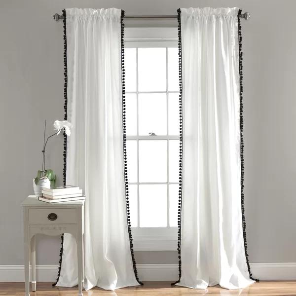 Brannon Solid Semi Sheer Rod Pocket Curtain Panel In 2020