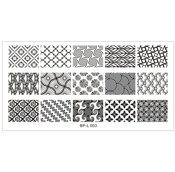 Large Designs Nail Art Stamp Template Image Plate BORN PRETTY BP - stamp template