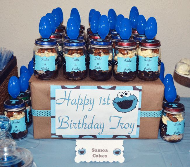 Cookie Monster Party: Troy Is 1