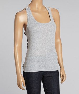 Loving this Reborn Collection Gray Butterfly Crocheted Tank - Women on #zulily! #zulilyfinds