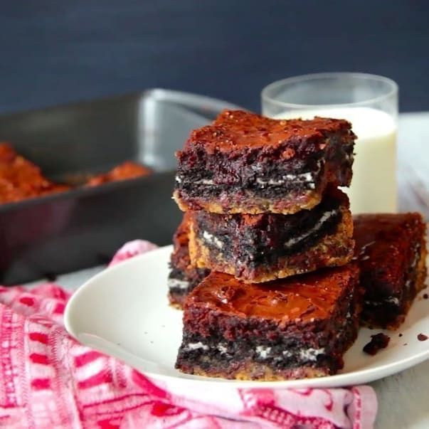 better than sex brownies with cookie dough and oreos recipe in Cleveland