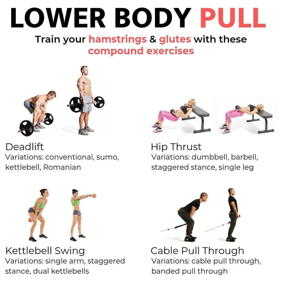 sensation de confort de style élégant design de qualité Add these lower body pull exercises in your lower body ...