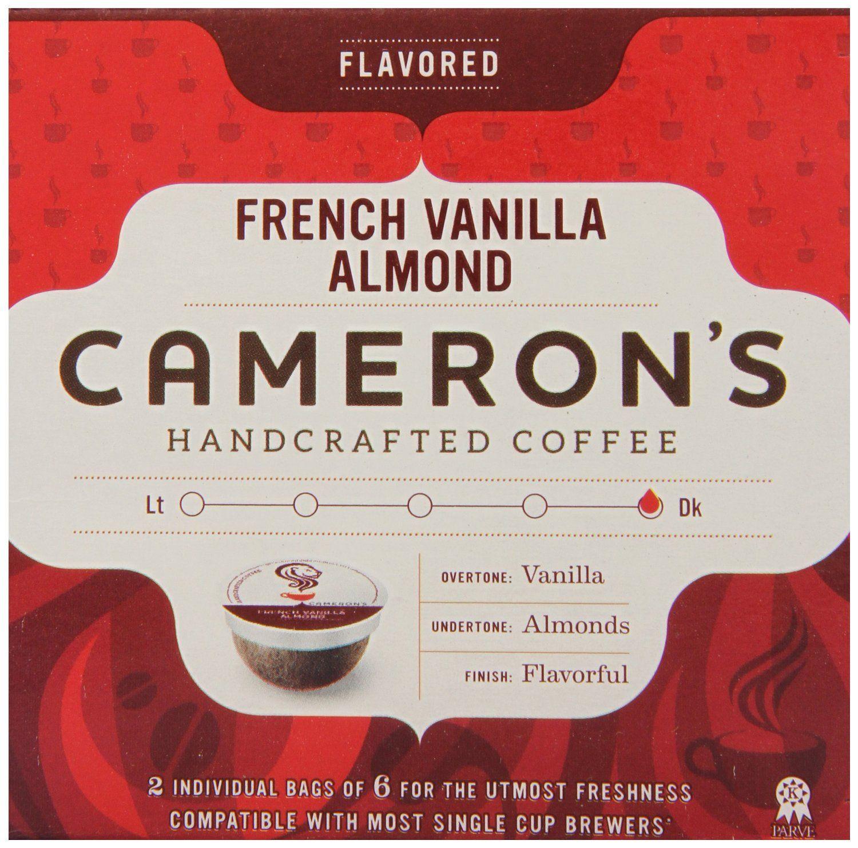 Cameron S Single Serve Coffee French Vanilla Almond 12 Count French Vanilla Blended Coffee Single Serve Coffee
