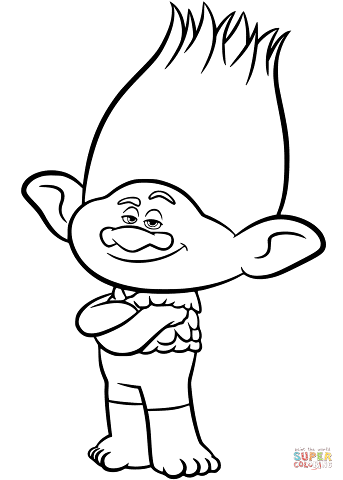 Trolls coloring pages printables To stencil onto playroom walls