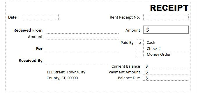 Free Template For Receipt Of Payment Blank Receipt Templatesreceipt Template Word  Domjo  Pinterest .