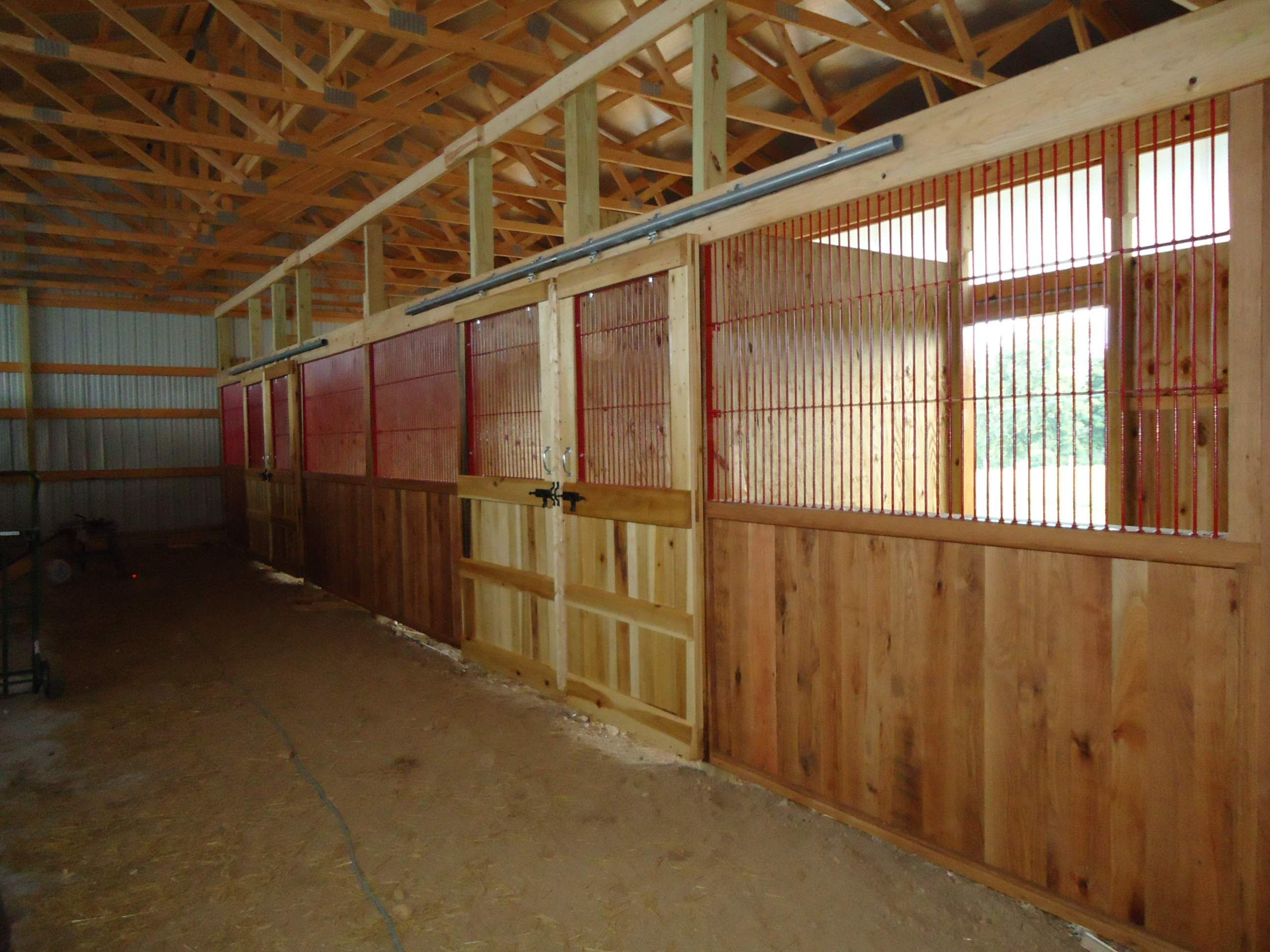 Diy stalls check out the sliding stall doors equine for Horse stall door plans