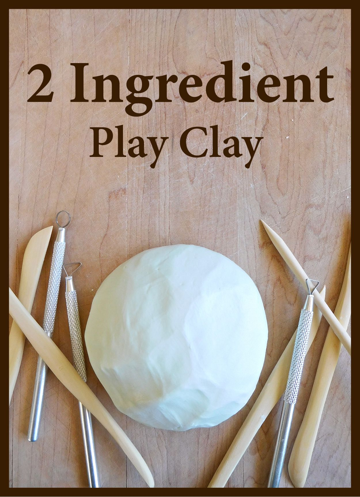 2 Ingredient Play Clay Play Clay Homemade Clay Clay