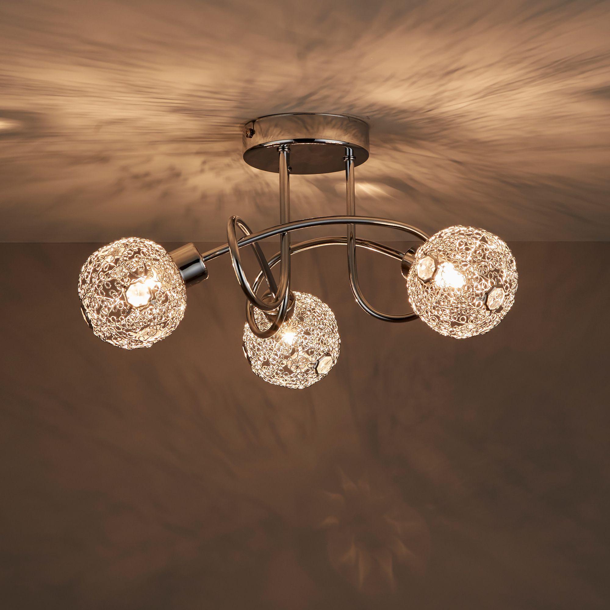 Bronte Chrome Effect 3 Lamp Spotlight