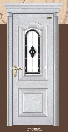 Foto de puerta de cristal de madera puerta de madera for Puertas de madera con cristal