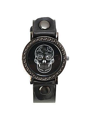 LOVEsick Sugar Skull Watch,