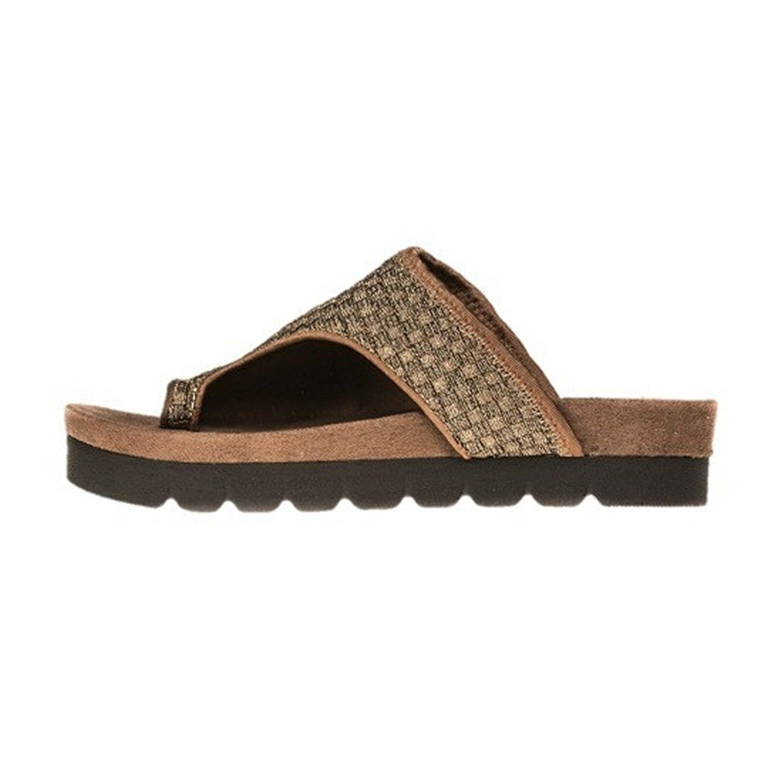 Zee Alexis Womens Faith Flat Sandal, Bronze - 37 * You can get additional details at the image link.
