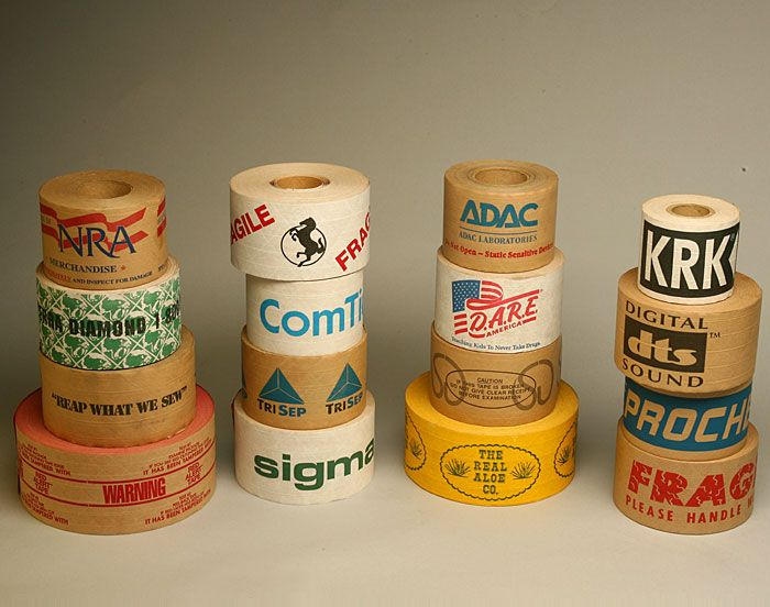 custom printed tape we can print custom water activated tape with