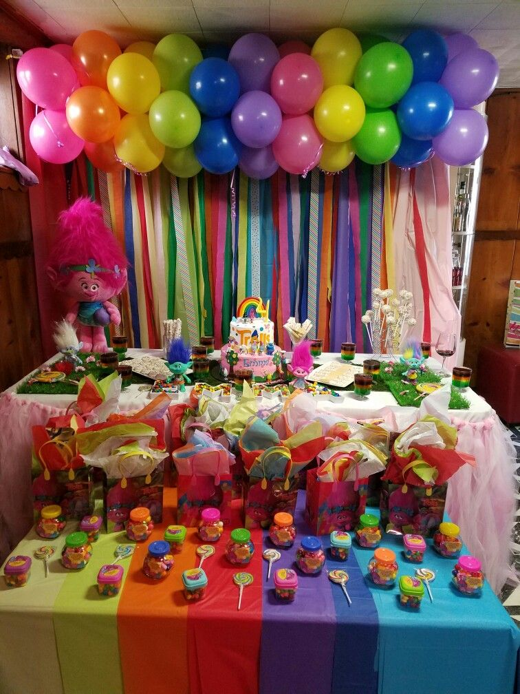 Trolls Birthday Party Troll 4th Parties Decorations 3rd
