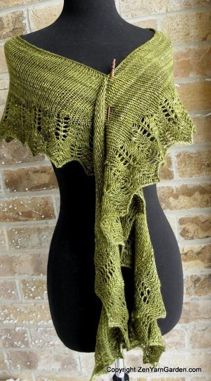 Mezquita Shawl - free knitting pattern by Liz Moore