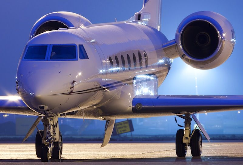 The Gulfstream GV (G5) is business-class heavy charter jet; this ...