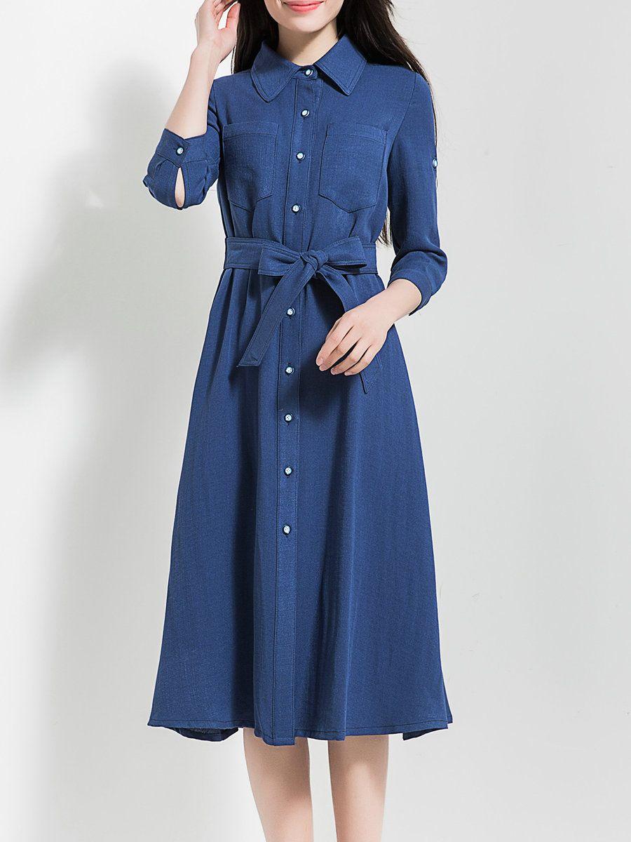 Adorewe stylewe midi dresses designer borme dark blue