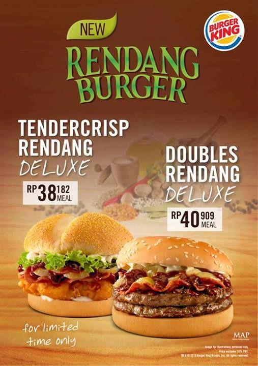 New From Burger King Tendercrisp Rendang Deluxe Doubles Rendang Deluxe Burger