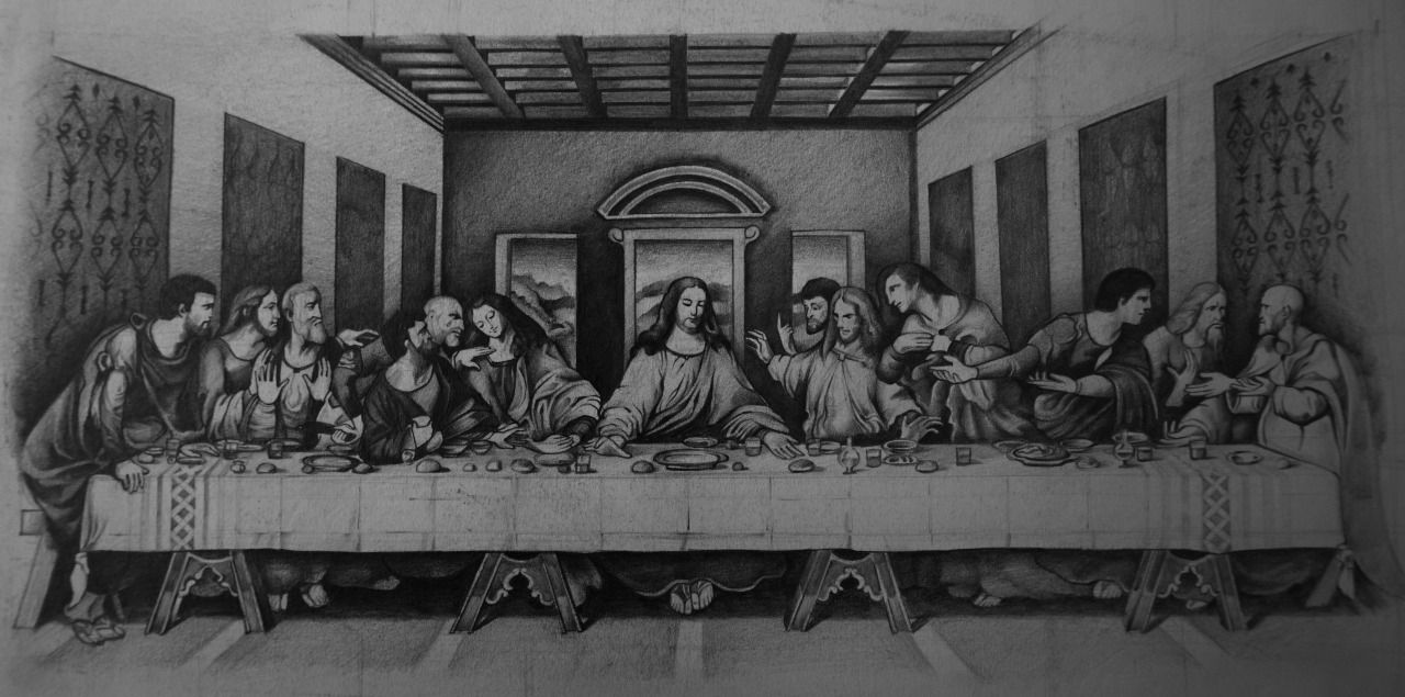 The Last Supper Sketch Http Instagram Com Conlll Http Www