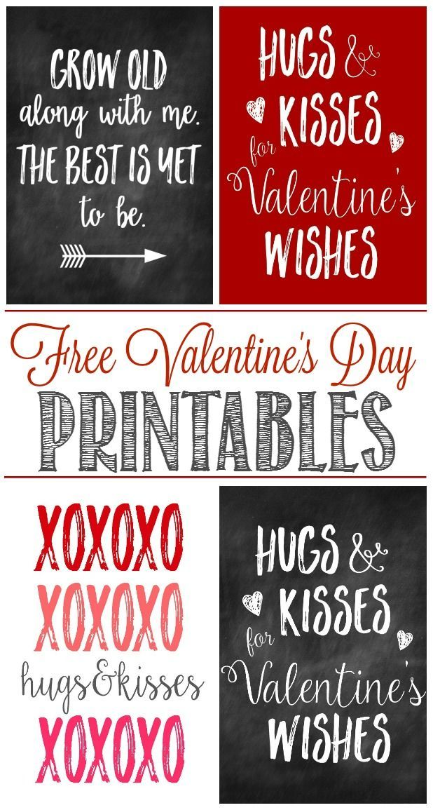 Great Collection Of Free Valentines Day Printables And Some Cute Ways To Display Them For Some Unique Valentines Day Decor